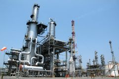 Refinaria de petróleo compacta Fotografia de Stock Royalty Free