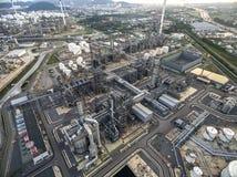 Refinaria de petróleo, porto de óleo, navio de petroleiro do óleo em foto de stock royalty free