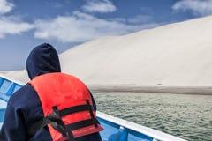 Refinaria de sal no negro de Guerrero, México Fotografia de Stock
