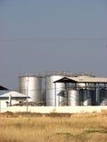 Refinaria química Foto de Stock Royalty Free
