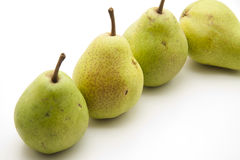 Refine pears with stem Royalty Free Stock Photo