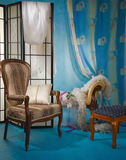 Refined boudoir interior Royalty Free Stock Images
