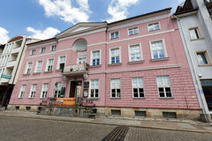 Refined bourgeois mansion in the Empire style. KOLOBRZEG, POLAND - JUNE 23, 2016: Refined bourgeois mansion in the Empire style was built in early nineteenth Stock Photo
