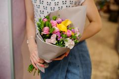 Refined And Elegant Bouquet Of Beautiful Flowers Stock Photo - Image ... 5314fce6a4