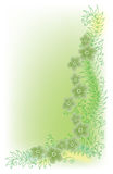 Refined Floral Vignette In Color. Refined floral vignette. Eau-forte color summertime swirl decorative  illustration. Eau-forte EPS-10 Stock Photos