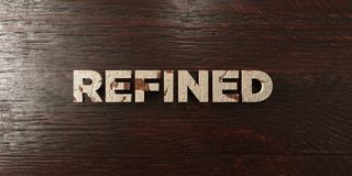 Refined - grungy wooden headline on Maple  - 3D rendered royalty free stock image Royalty Free Stock Photography