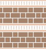 Refined modern seamless geometric wallpaper pattern. Brown and orange colors Royalty Free Stock Photos