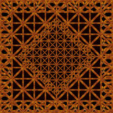 Refined Ornament Wood Artwork Royalty Free Stock Photography