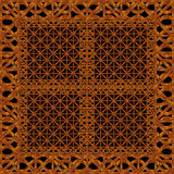 Refined Ornament Wood Artwork. Refined oranament digital photo manipulation artwork design made from pieces of wood photos in brown tones royalty free illustration
