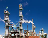 Refined Petroleum Petrochemical Plant Smokestack Pipeline Royalty Free Stock Photo