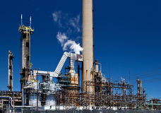 Refined Petroleum Petrochemical Plant Smokestack Pipeline Royalty Free Stock Photos