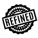 Refined rubber stamp Royalty Free Stock Images