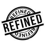 Refined rubber stamp Royalty Free Stock Photos
