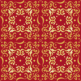 Refined Seamless Golden Pattern Decoration Stock Photo
