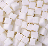 Refined sugar cubes background Royalty Free Stock Photo