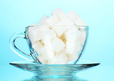 Refined sugar in a cup Stock Photos