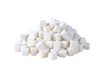 Refined sugar isolated on white Stock Image