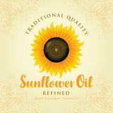 Refined sunflower oil Stock Images