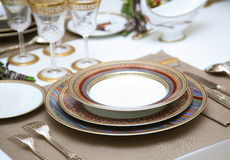 Refined table setting. Stock Photos