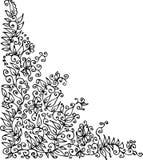 Refined vignette. Eau-forte illustration stock illustration