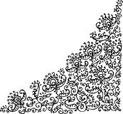 Refined vignette LXXVI. Floral vignette. Eau-forte illustration stock illustration