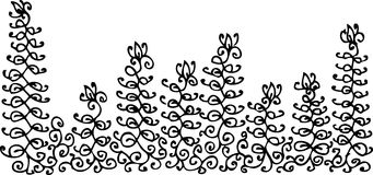 Refined vignette XLIX. Refined vignette. Eau-forte illustration royalty free illustration