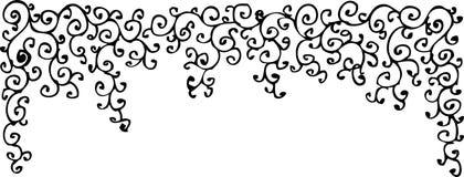 Refined vignette XLVII. Refined vignette. Eau-forte illustration royalty free illustration