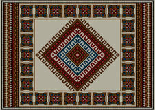 Refined vintage ethnic carpet with beige Royalty Free Stock Photo