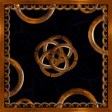 Refined Wood Decorative Background. Digital photo manipulation abstract artwork created from a piece of wood photo in brown tones vector illustration