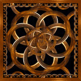 Refined Wood Decorative Background. Digital photo manipulation abstract artwork created from a piece of wood photo in brown tones stock illustration