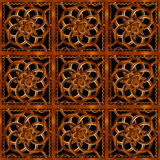 Refined Wood Decorative Background Pattern. Digital photo manipulation abstract artwork created from a piece of wood photo in brown tones vector illustration
