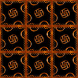 Refined Wood Decorative Background Pattern. Digital photo manipulation abstract artwork created from a piece of wood photo in brown tones royalty free illustration