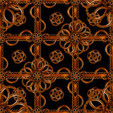 Refined Wood Decorative Background Pattern. Digital photo manipulation abstract artwork created from a piece of wood photo in brown tones stock illustration