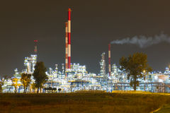 Refinería de petróleo fotografía de archivo
