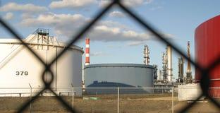 Refinería de petróleo fotografía de archivo libre de regalías