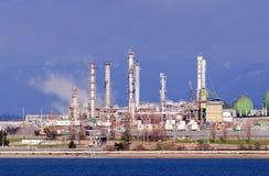 Refinería de petróleo de Anacortes Fotos de archivo libres de regalías