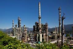 Refinería de petróleo de Vancouver Foto de archivo libre de regalías