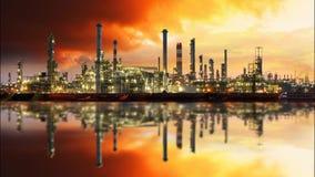 Refinería de petróleo, lapso de tiempo almacen de video