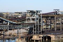 Refinería del carbón Imagen de archivo libre de regalías