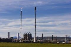 Refinería del combustible y del gas fotos de archivo