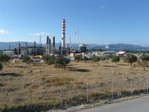 Refinería en Corith, Grecia Foto de archivo