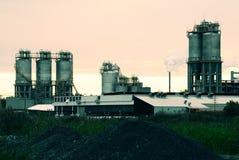Refinería en Montreal Fotos de archivo libres de regalías