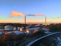 refinerías Imagen de archivo
