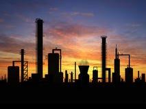Refinería de petróleo Imagenes de archivo