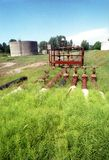 Refinería de petróleo vieja Fotografía de archivo libre de regalías
