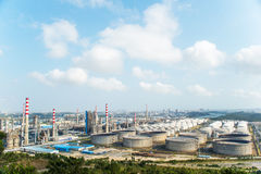 Refineries and facilities Royalty Free Stock Photos