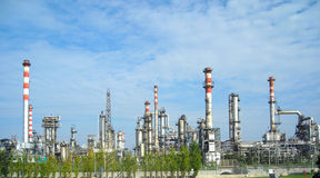 Refinery. Under a clean sunny sky Stock Photo