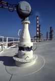 Refinery. Picture of a refinery from the top of a storage tank royalty free stock photos