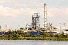 Refinery. View of the Gdansk Refinery, on the other side of the river Dead Vistula Stock Images