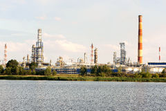 Refinery. View of the Gdansk Refinery, on the other side of the river Dead Vistula Stock Image